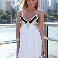 LINCOLN 2.0 DRESS , DRESSES, TOPS, BOTTOMS, JACKETS & JUMPERS, ACCESSORIES, 50% OFF , PRE ORDER, NEW ARRIVALS, PLAYSUIT, COLOUR, GIFT VOUCHER,,White,Sequin,SLEEVELESS,MINI Australia, Queensland, Brisbane