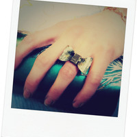 Vintage Retro Style Bowknot Adjustable Ring