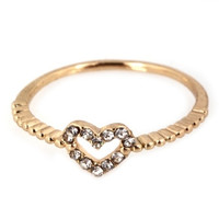 Tiny Heart Ring - Gold or Silver
