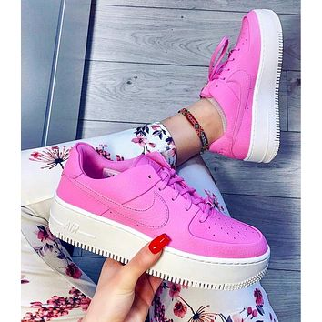 Nike Air Force 1 Fashion New Hook Sports Leisure High Quality Shoes Women Pink