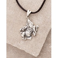 Silver Flying Ganesh Necklace