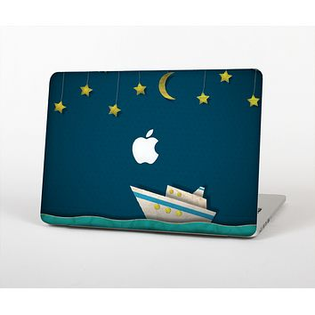 """The Layered Paper Night Ship with Gold Stars Skin for the Apple MacBook Air 13"""""""