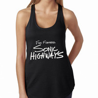 Foo Fighters Sonic Highways Rock Band Logo Cool band ever BLACK Tank Top, Lady Women Fit Tee, Sweater Hoodie Tshirt Tank Top