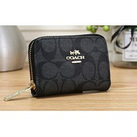 COACH Fashion Lady Printed Small Wallet Handbag