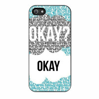 the fault in our stars okay song iphone 5 5s 4 4s 5c 6 6s plus cases