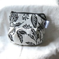 Coin Purse - GPS Bag - Toiletry - Cosmetic - Black and White