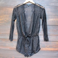 cut to the lace romper - black
