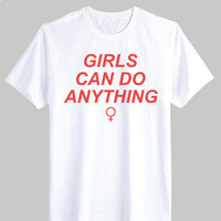 Girls can do Anything Female T Shirt - Ferolos