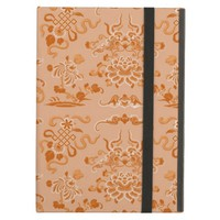 Orange Flowers and Shapes iPad Air Covers