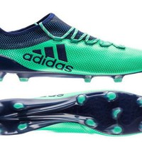 Adidas X 17 1 FG Mens Soccer Cleats Aero Green Unity Ink Hi-Res Green