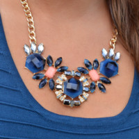 Made For You Necklace: Navy/Multi