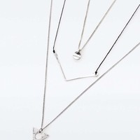 Silver Arrow and Triangle Layering Necklace Pack - Urban Outfitters