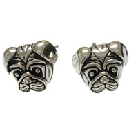 Pug Dog Head Cufflinks