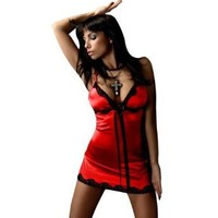 Sexy Lingerie Set - Sheer Satin Slip With Matching Thong - Made in Europe