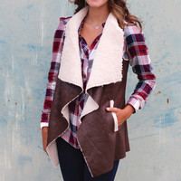 Campfire Stories Vest {Brown}