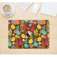 """The Orange & Red Cute Vector Birds Skin Kit for the 12"""" Apple MacBook (A1534)"""