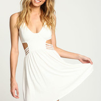 IVORY HALTER SPORT BANDS DRESS
