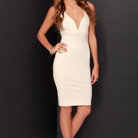 That Thing You Do Light Beige Bodycon Dress