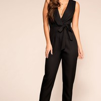 Make It Work Black Jumpsuit
