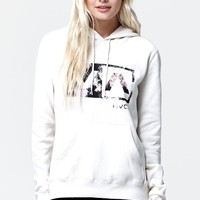 RVCA Blurred Rose Box Pullover Hoodie - Womens Hoodie - White