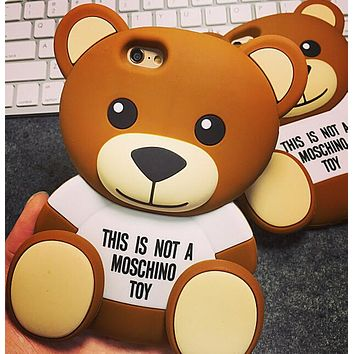 Cute Bear Silicone creative case for iPhone 5s 6 6s creative case iPhone 7 8 6 6s Plus Gift