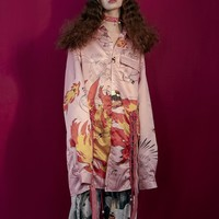 Flame Dragon Oversized Shirt