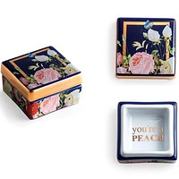 You're A Peach Porcelain Trinket Box in Gift Packaging
