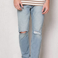 PacSun Slim Ripped Light Wash Stretch Jeans at PacSun.com