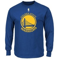 Golden State Warriors Primary Logo Long Sleeve T-Shirt - Royal Blue