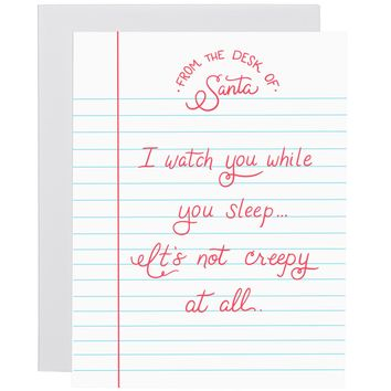 Watch You While You Sleep letterpress card