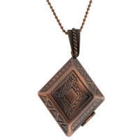"""Stunning Engraved Locket Pendant 30X40MM With 28"""" Chain"""