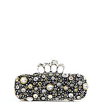 Alexander McQueen - Embellished Knuckle Box Clutch - Saks Fifth Avenue Mobile