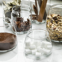 Tempered Glass Candy Jars for Sweets Storage, Candy Buffet, Candy Station, Dessert Table