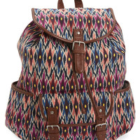 Tribal Ikat Cinch Backpack