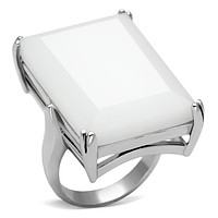 Sterling Silver Band Rings LOAS868 Rhodium 925 Sterling Silver Ring