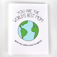 Funny Mother's Day Card - World's Best Mom Card