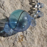 Bubble Bauble Necklace Pendant on Clear Glass and by TheScoffPatch