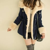 Warm Double-Breasted Wool Blend Jacket Woman Clothes Solid Long Slim Plus Size Women's Jackets And Coats