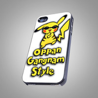 Pikachu Pokemon Gangnam Style - For IPhone 4 or 4S Black Case Cover