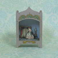 Miniature Theater Vignette in Rose Chrome Shade