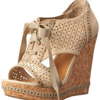 Not Rated Women's Cantina Wedge Sandal, Cream, 7 M US