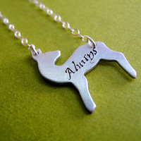 Harry Potter Snape's Patronus Necklace Always by SpiffingJewelry