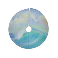 "Theresa Giolzetti ""Jelly Fish"" Blue Teal Tree Skirt"