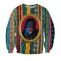 Biggie Crewneck Sweatshirt Notorious B.I.G. jumper Biggie Smalls Character Sweats Fashion Clothing Women Men Tops Pullover