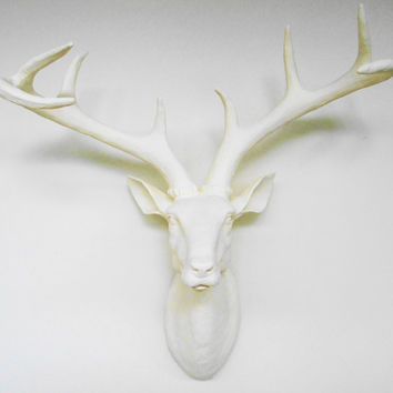 Ivory, Deer Head, Faux Taxidermy, Stag Head, Faux Deer Head, Deer, Pantone, Spring