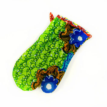 Oven Mitt - Potholder - Quilted African Wax Print