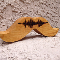 Custom Mustache Best Man or Groomsman Gift. Use any Sound! Beard Art. Father's Day.