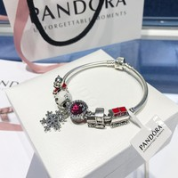 DCCK2 092 Pandora Red Snow Cat Eye Bracelet
