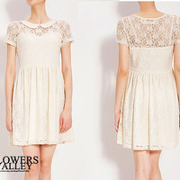White Lace/ Romantic / dresses /Fairy / Dreamy / Bridesmaid / Party / wedding / Bride /