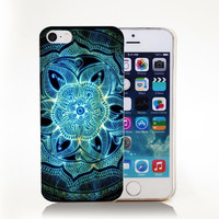 Mehndi Inspired Mandala Hard Transparent Cover Case for iPhone 4 4s 5 5s 5c 6 6s Protect Phone Cases